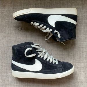 Nile Blazer Black and White High Top Sneakers